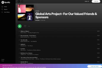 Global Arts Project On Spotify