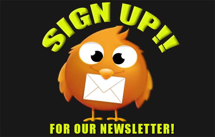 Sign Up For Our Newsletter – It's Free!!