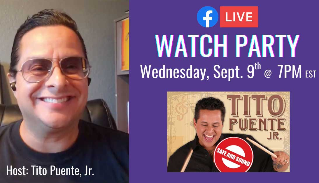 Tito Puente Jr's Watch Party LIVESTREAM!! 20/09/09 7PM EST